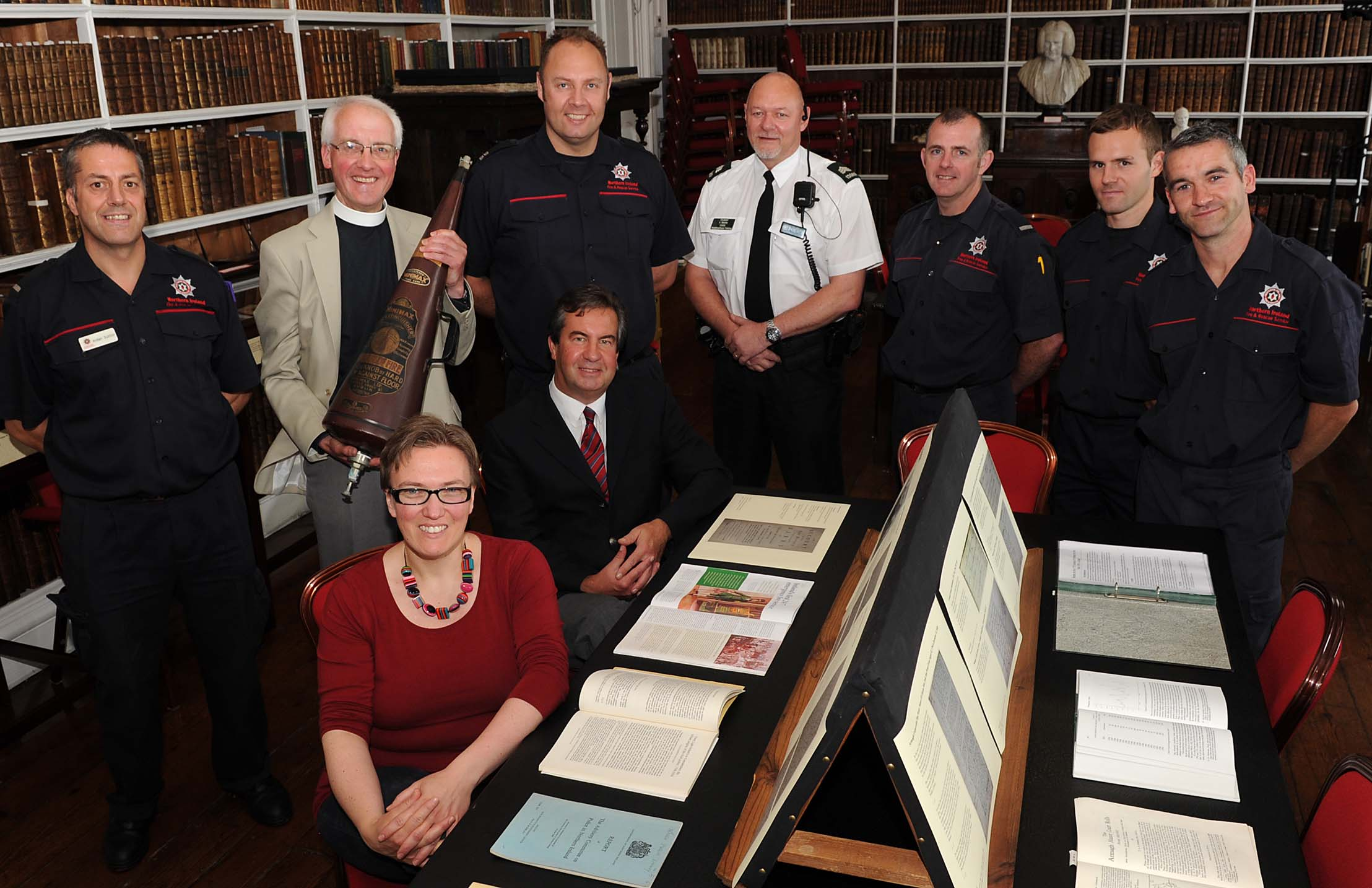 Exhibitions Past & Present 'To the Rescue : the Police and Fire Service in Armagh' in Armagh Robinson Library