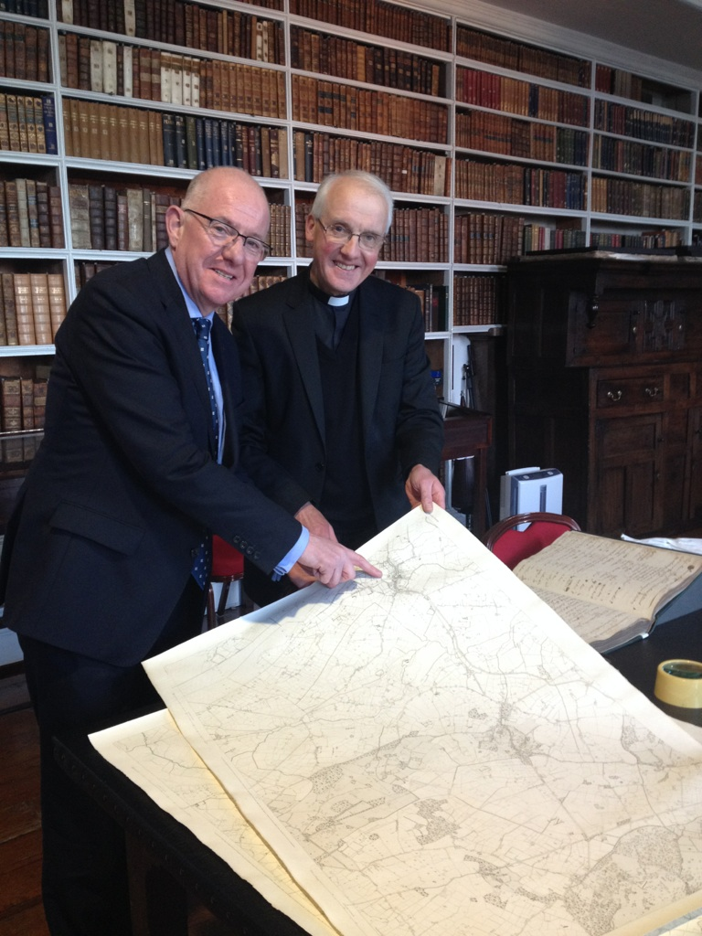 Minister Flanagan meeting Keeper of Armagh Public Library 5Dec2014