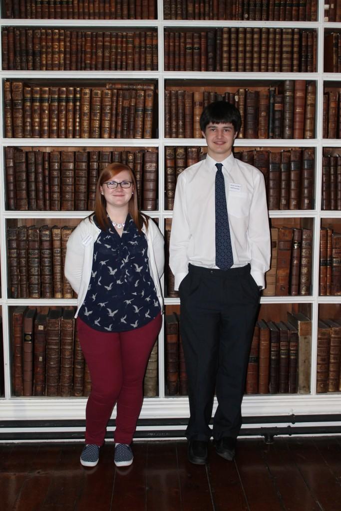 Volunteers Rachel Toner and Andrew Hamilton