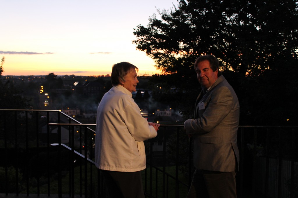 Registry Officer Stephen Day and volunteer Mary Dawson