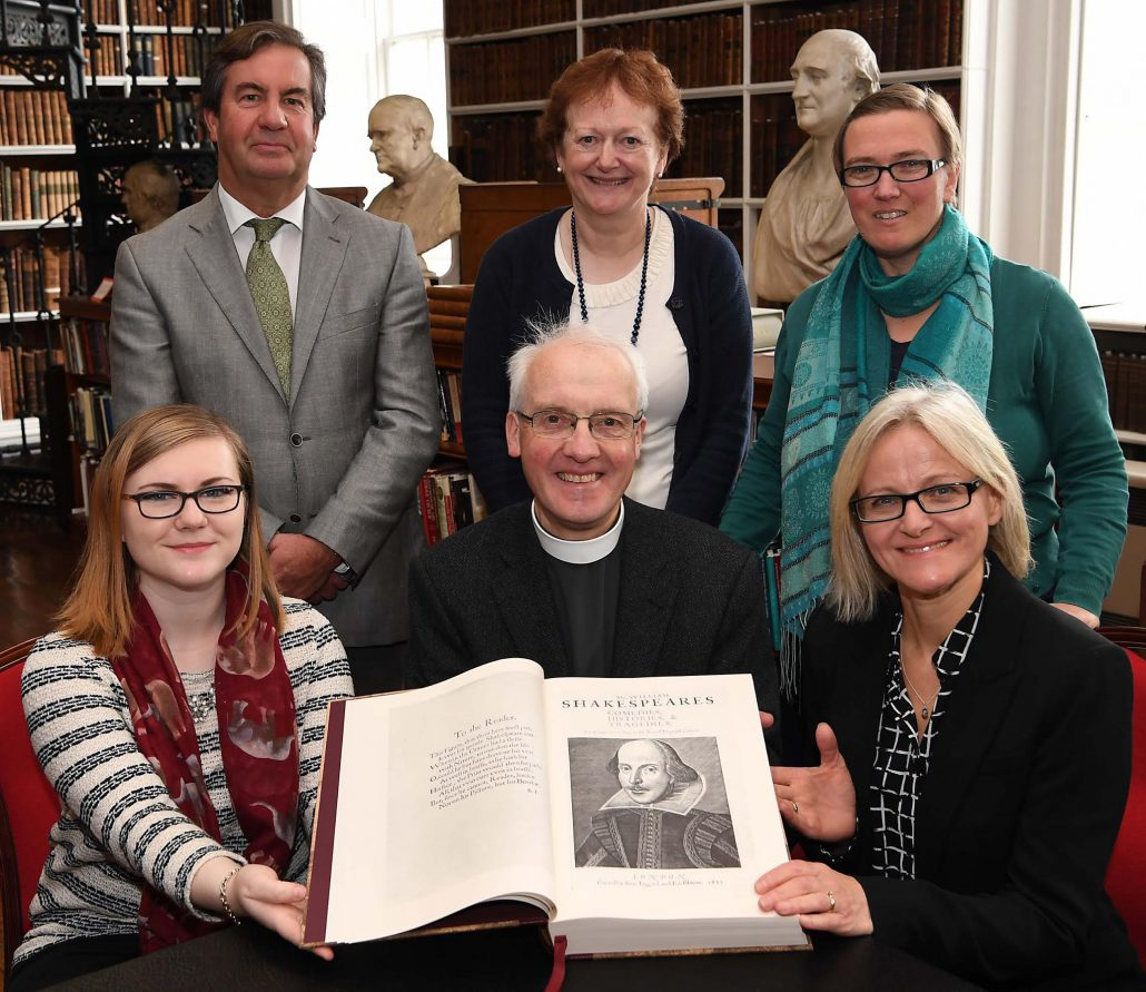 Launch of the exhibition The Works of William Shakespeare : the 400th anniversary of the death of William Shakespeare, at Armagh Robinson Library