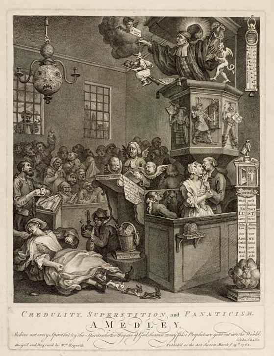 Hogarth print, part of the Armagh Robinson Library print collection.