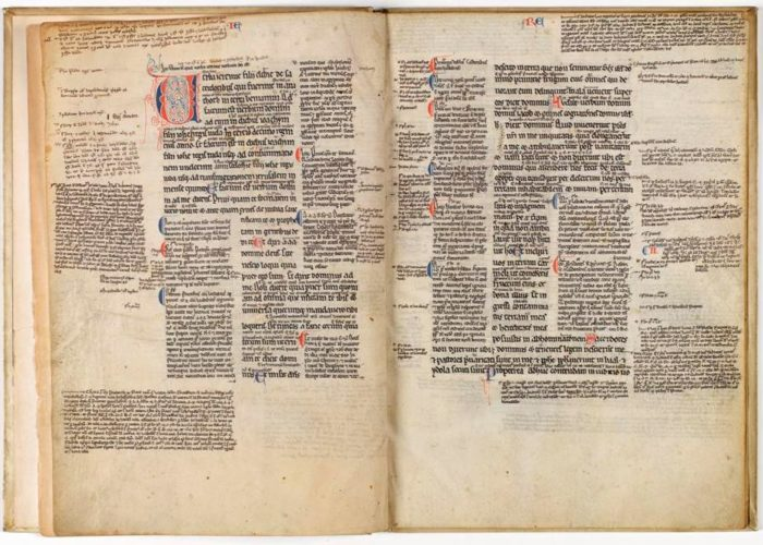 Pages from P001941778: Biblia, Jeremias, cum glossa, 1200-1225) in Armagh Robinson Library