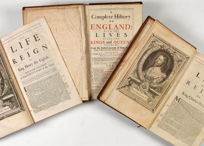 P001142115: A Complete History Of England With The Lives Of All The Kings And Queens Thereof, by Francis Bacon, 1729, in Armagh Robinson Library