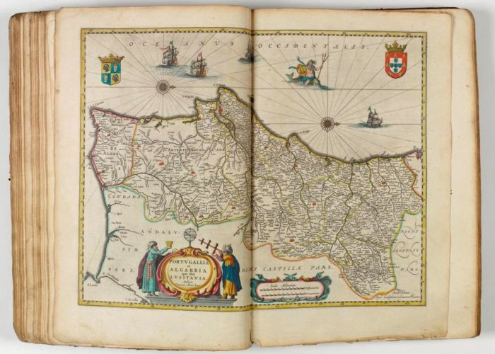 Map of the Algarve from Theatre Du Monde on Nouvel Atlas by Blaeu, 1640 in Armagh Robinson Library