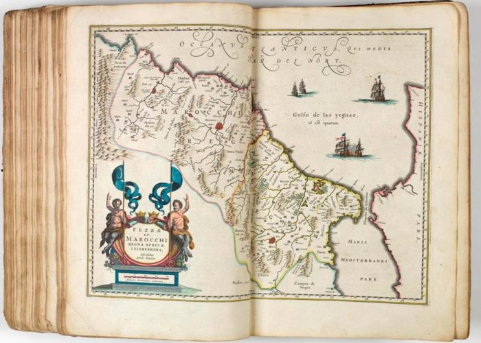 Map of Fez and Marrakesh from Theatre Du Monde on Nouvel Atlas by Blaeu, 1640 in Armagh Robinson Library