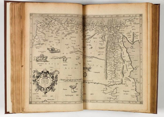 Map of North Africa from P001148261: Claudij Ptolemæi Alexandrini Geographiae libri octo Graeco-Latini 1605 in Armagh Robinson Library