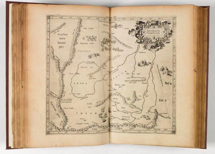 Map of Central Eurasia in P001148261: Claudij Ptolemæi Alexandrini Geographiae libri octo Graeco-Latini, 1605 in Armagh Robinson Library