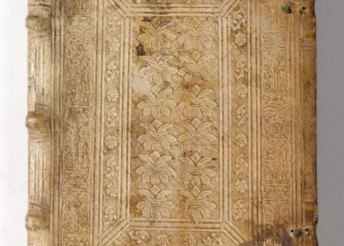 Binding of P001394912: Commentariorum In Vetera Imperatorum Romanarum Numismata Libri Primus, by Enea Vico, 1562, in Armagh Robinson Library