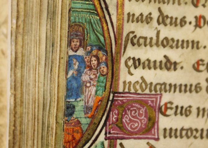 Illumanted page from P002473153: Book of Hours (1400-1500) in Armagh Robinson Library