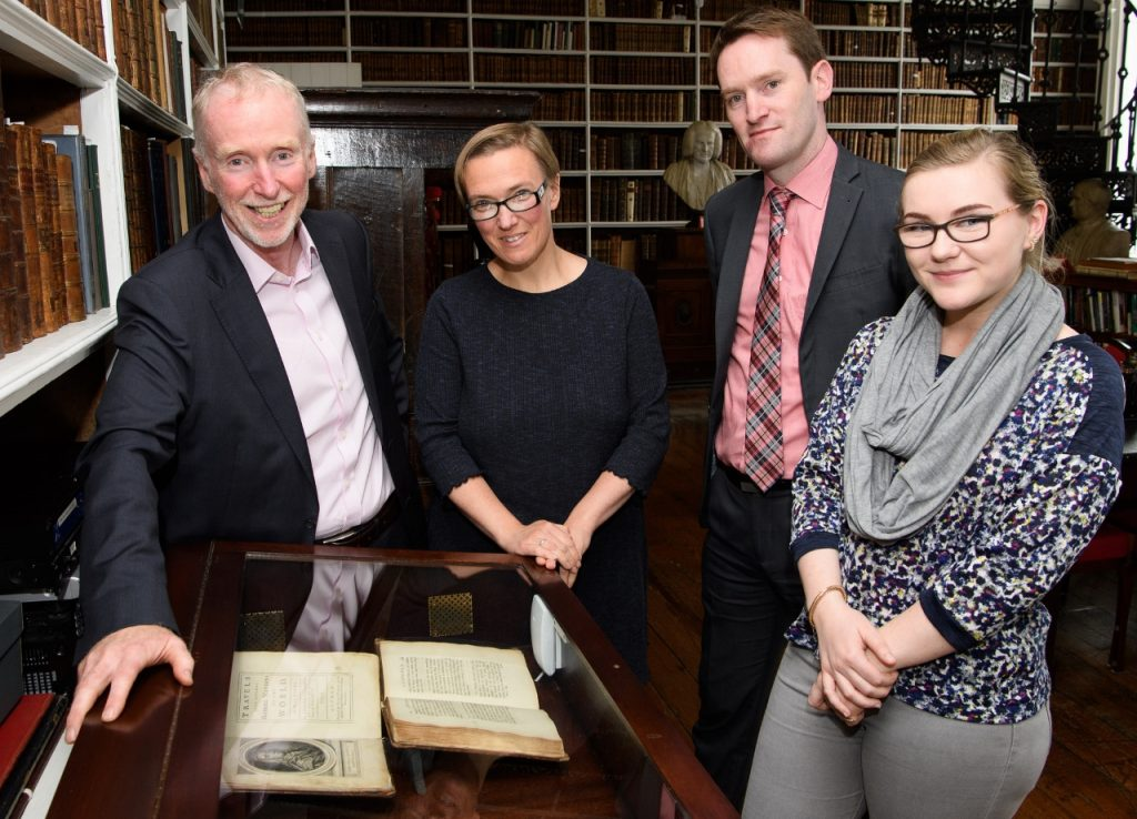 Travel literature exhibit at Armagh Robinson Library