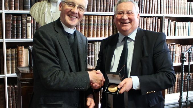 Donation of Memorial Medal to the Library