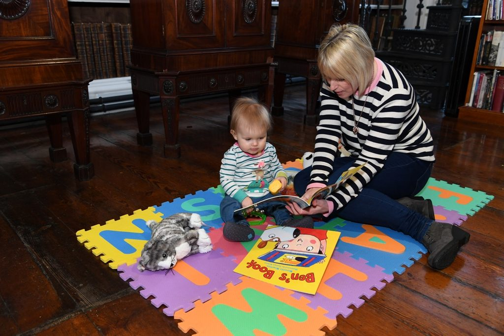 Even the smallest children can explore the Library in our soft play area
