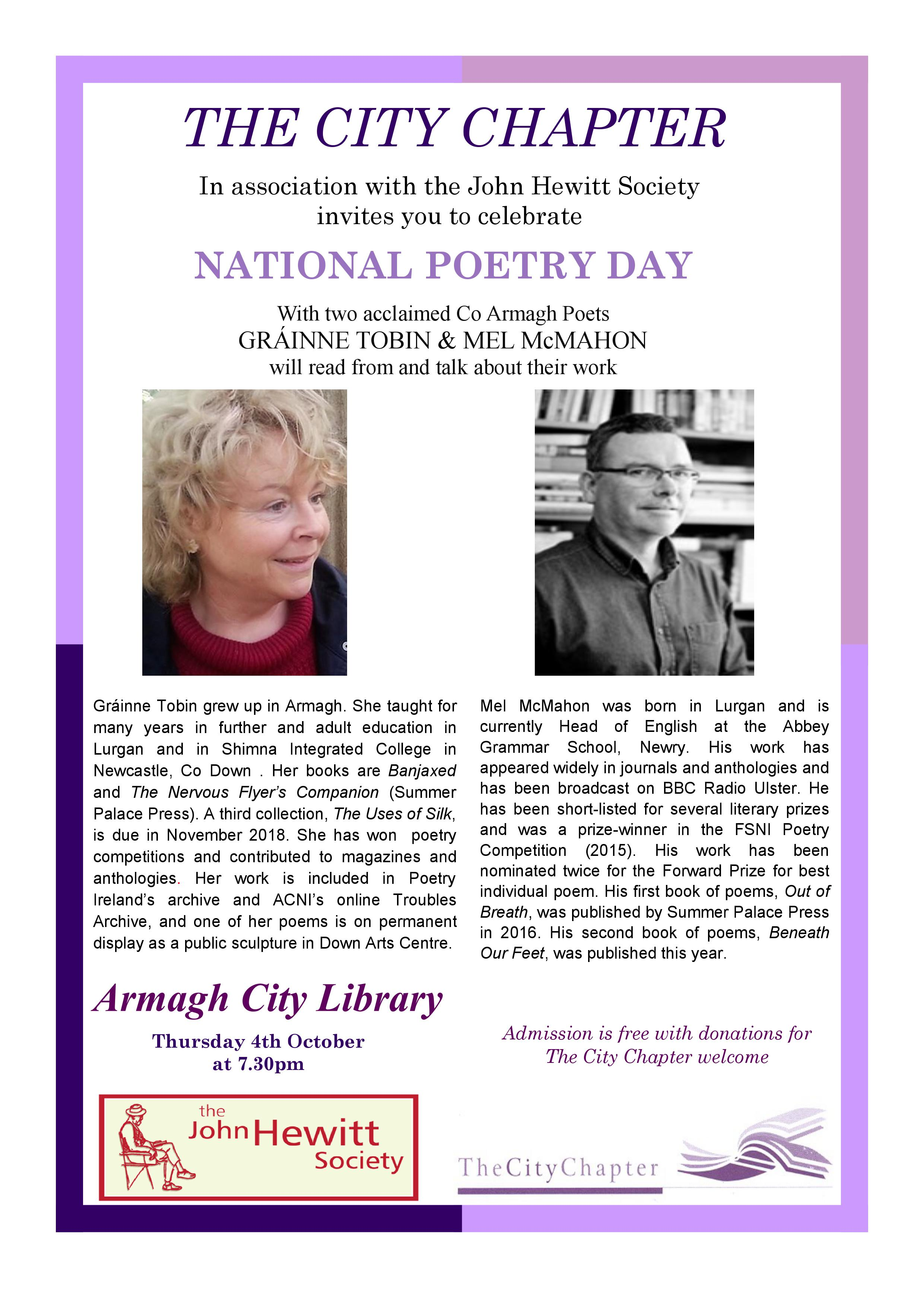 National Poetry Day in Armagh 2018