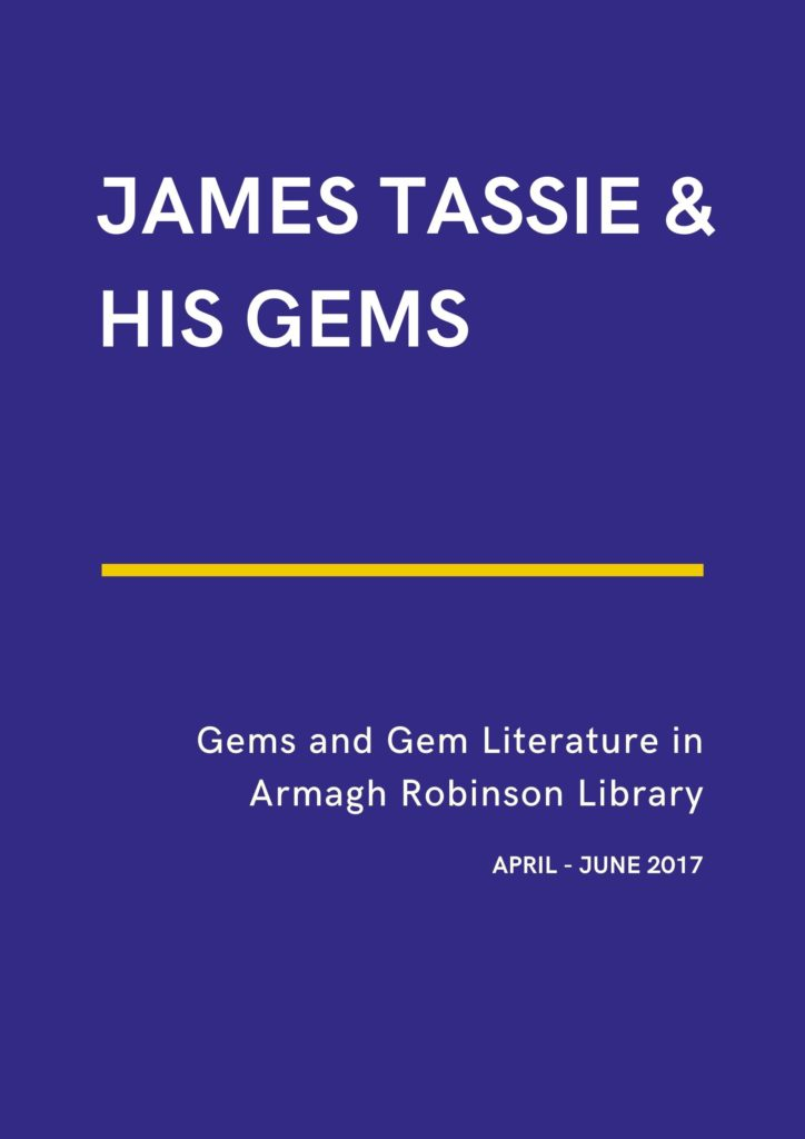 poster James Tassie and his Gems exhibition