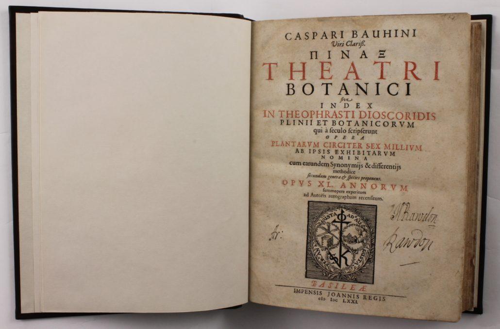 Title page of Caspari Bauhini Pinax Theatri Botanici
