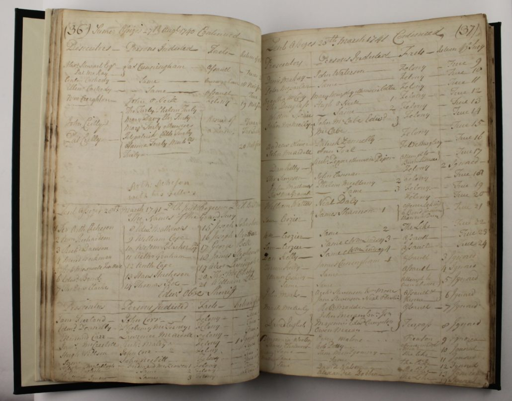 Page 36-37 of Armagh Assizes, Indictments ; June 1735-1775; 1776-1797