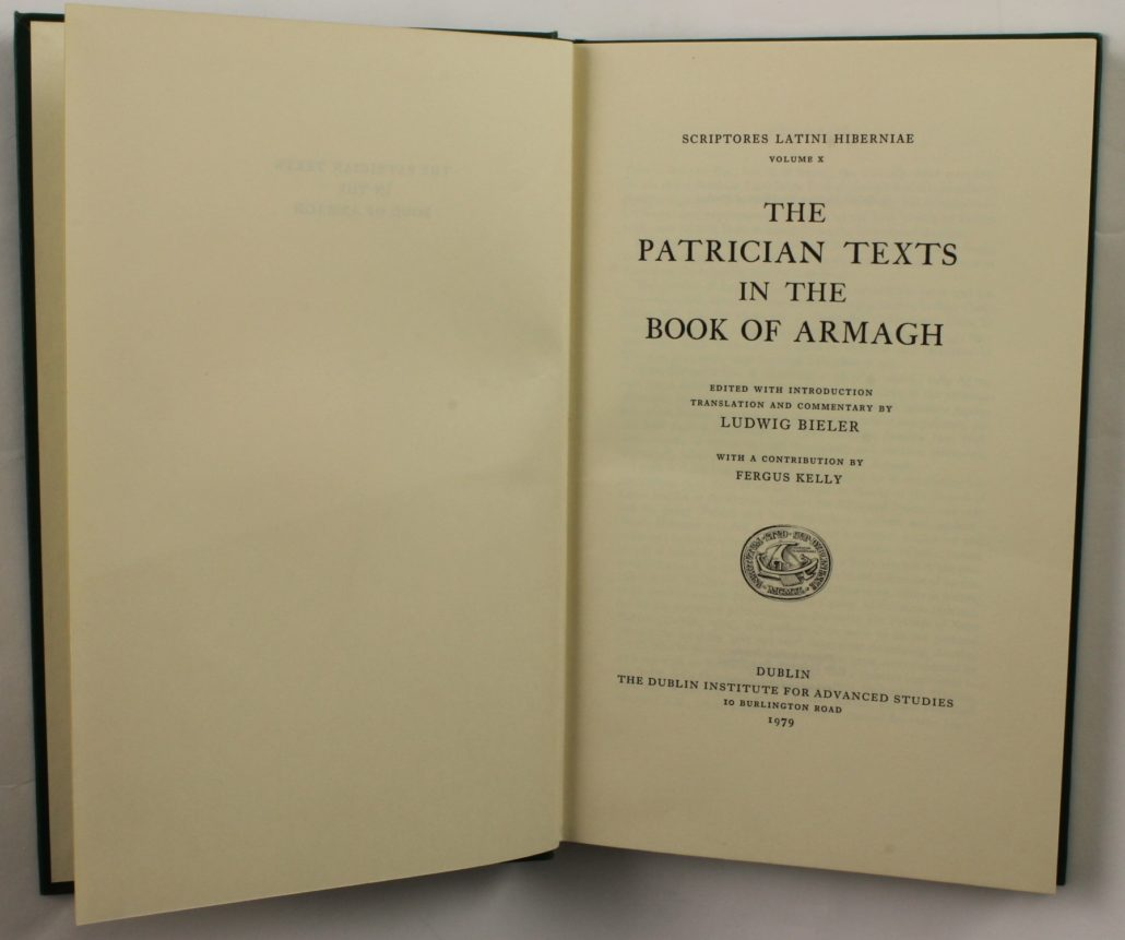Title page of The Patrician Texts in the Book of Armagh