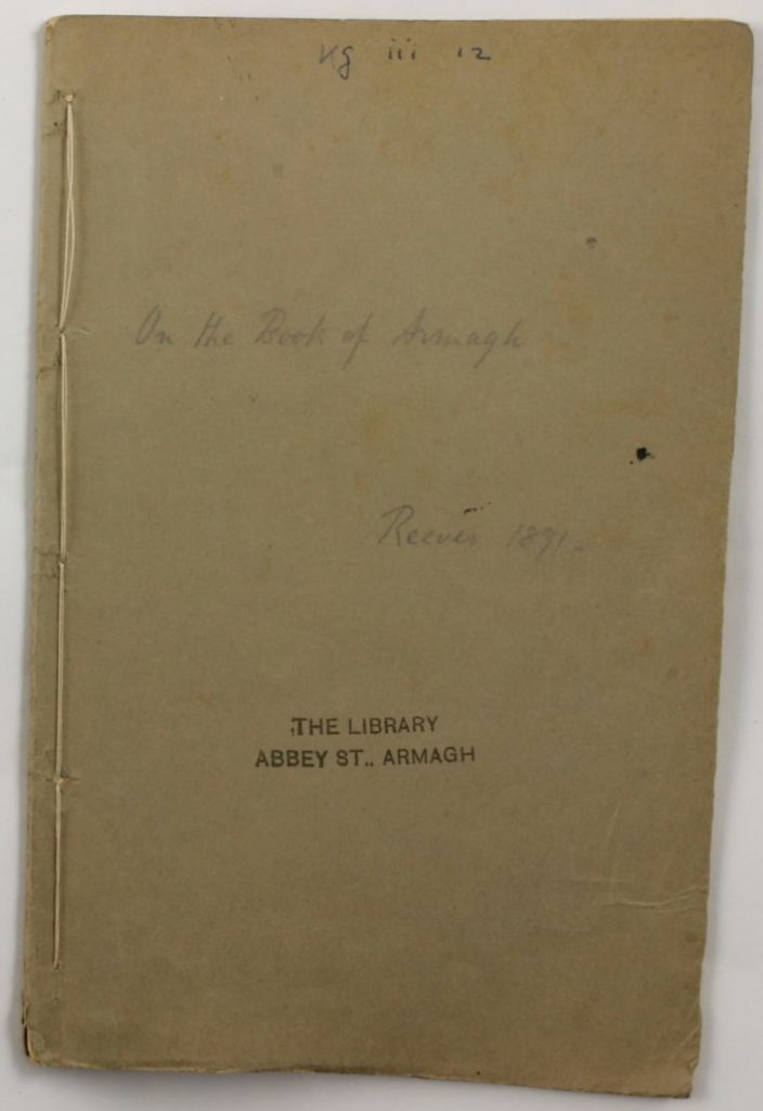 Cover of On The Book of Armagh, by William Reeves