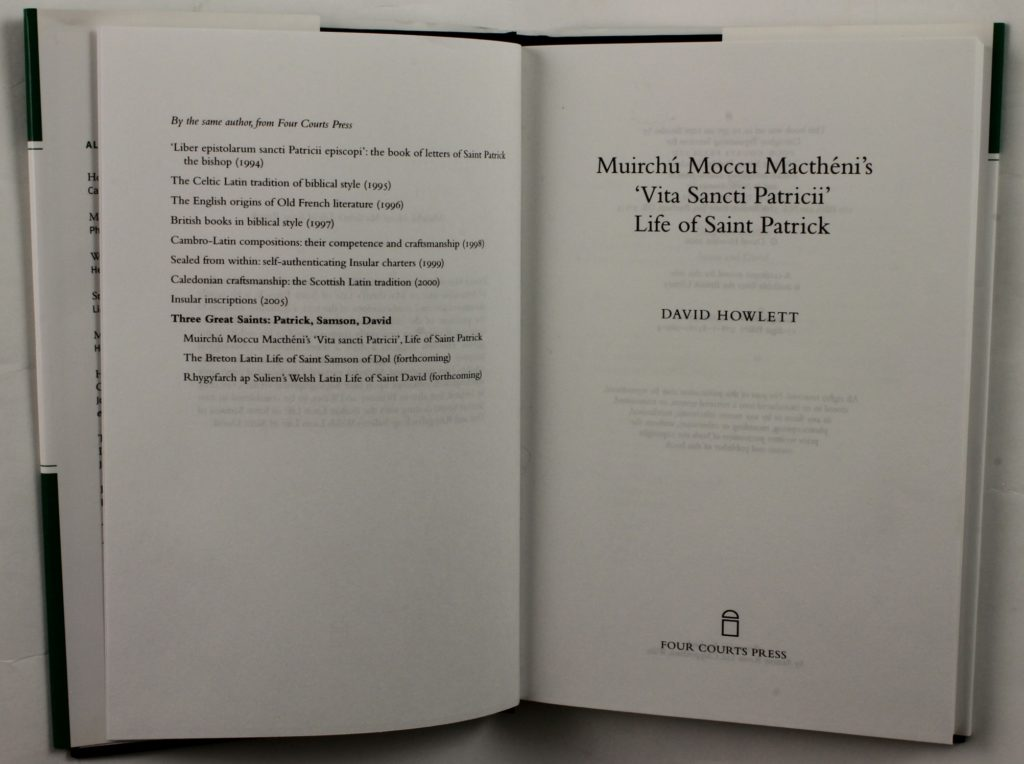 Title page of Vita Sancti Patricii : Life of Saint Patrick