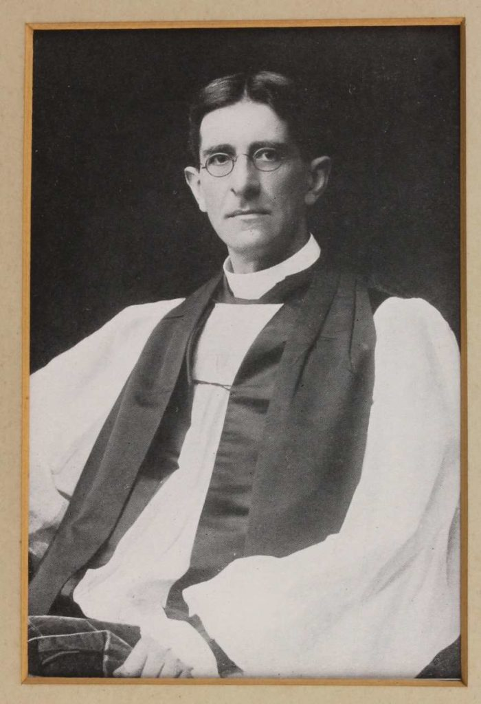 Gregg as a young clergy man