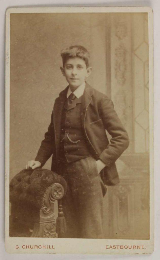 JAF Gregg as a schoolboy
