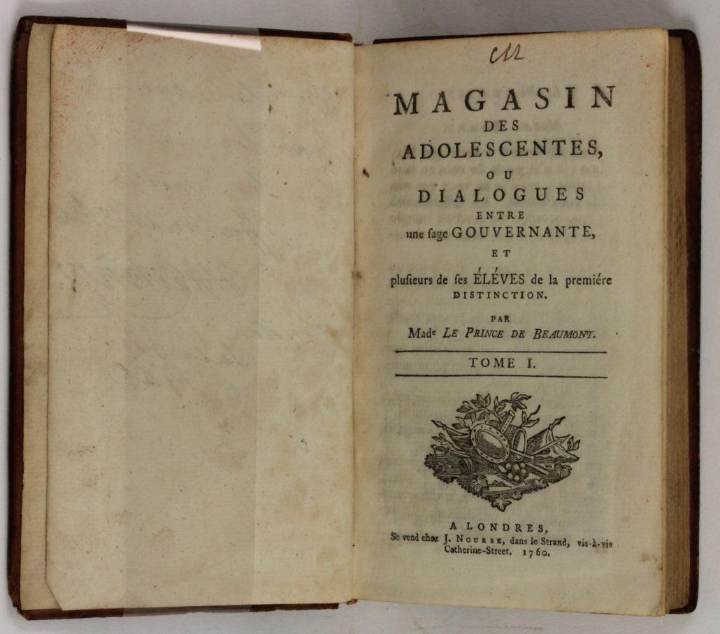 Title page of Magasin des Adolescentes ou Dialogues entre une sage Gouvernante et plusieurs de ses Eleves