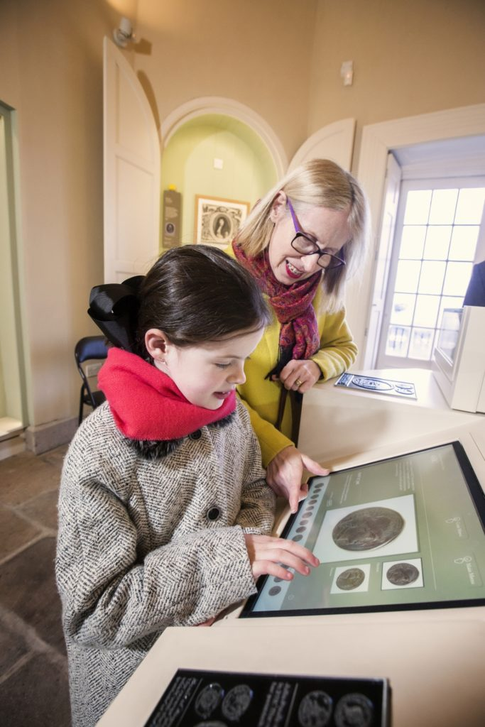 Exploring the collections at No 5 Vicars' Hill through touch screens