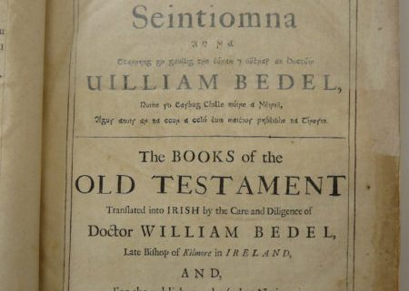 The Books of the Old Testament translated into Irish by William Bedell