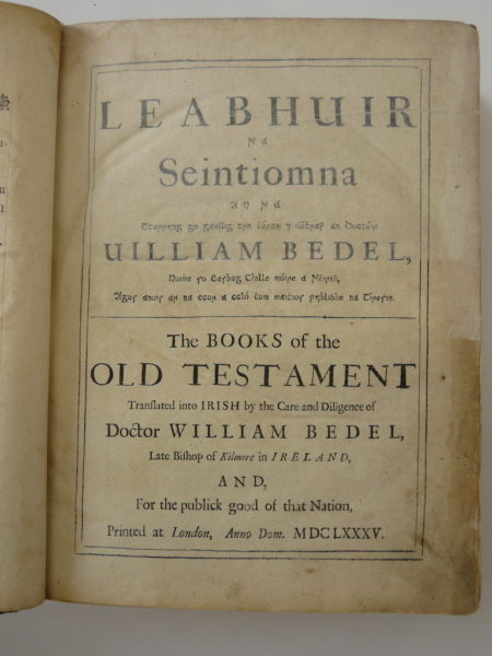 Old Testament tranlated into Irish by William Bedell