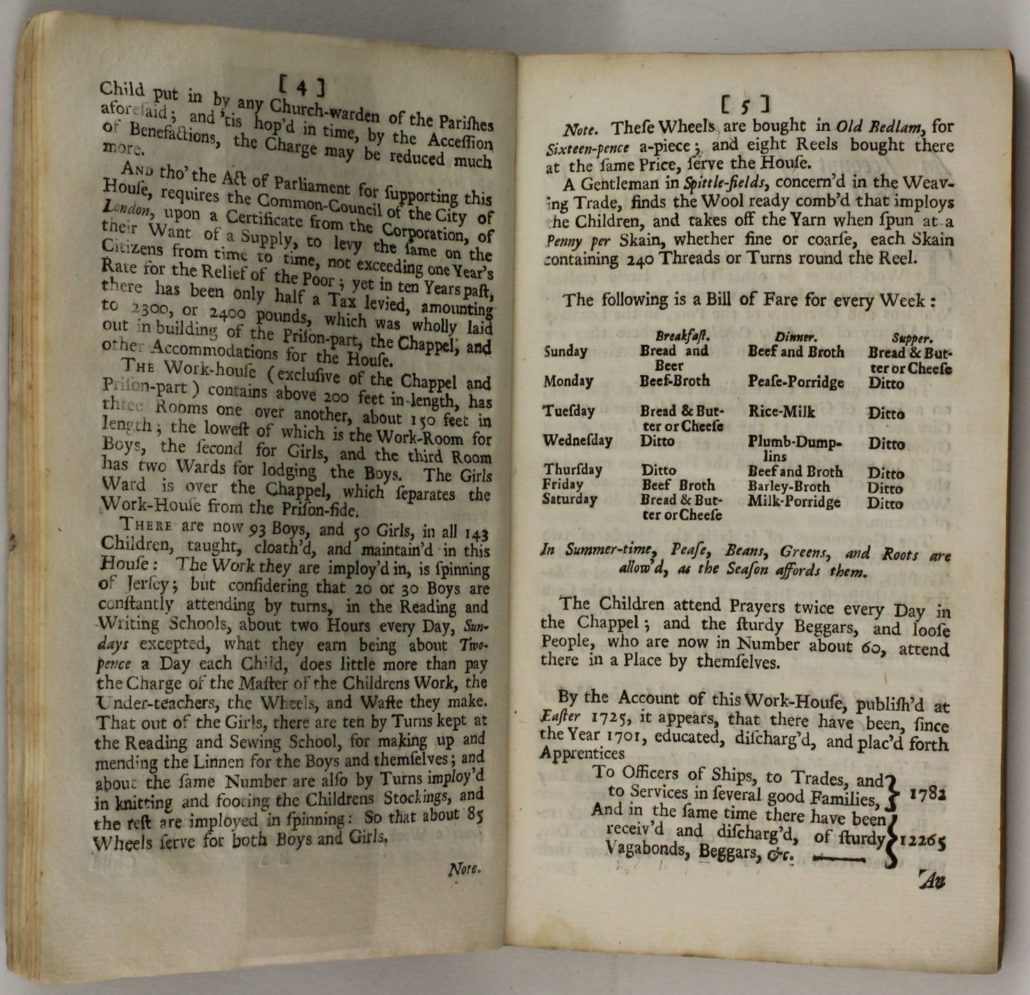 Page 4-5 of An Account of Several Work – Houses for Employing and Maintaining the Poor […]